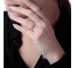 Argolla de matrimonio Macapa: 3 oros con 3 diamantes brillantes