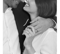 Argolla de matrimonio Biarritz: Clásica en oro 18k