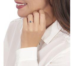 Anillo de compromiso Muricia: Solitario ovalado de zafiro