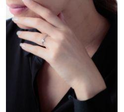 Anillo de compromiso Livorno: Solitario de diamante en oro