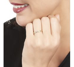 Anillo de compromiso Santorini: Estilo solitario de diamante