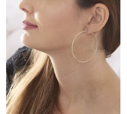 Peony Hoops Earrings