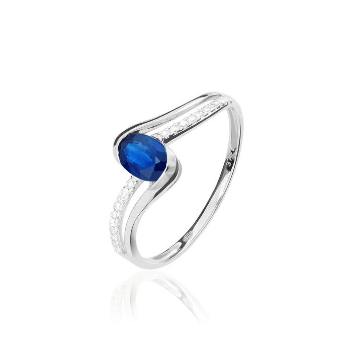 Ocho Rios Ring - Sapphire - Gold - Diamonds - Women - Bogota Colombia
