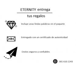 Anillo de compromiso Cartagena: Cuatro uñas y diamante central