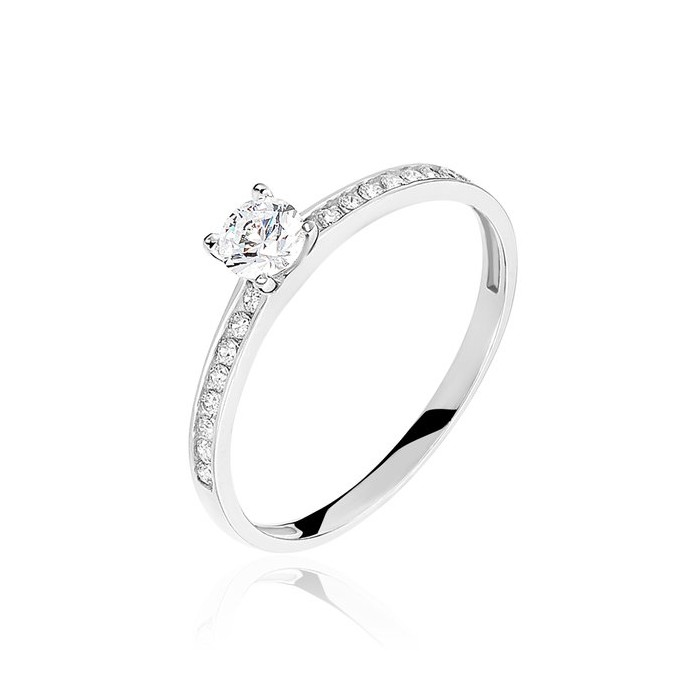 Lima Ring - Engagement Rings - CZ Stones - 18k Gold | Eternity Joyería
