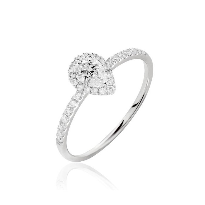 Mineapolis Ring - Engagement Ring - CZ Stones - 18k Gold | Eternity Joyería