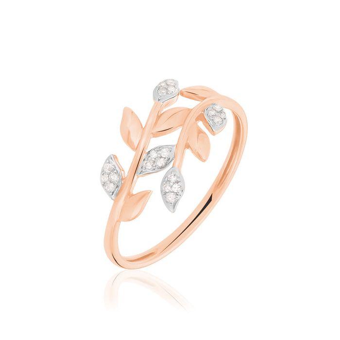 Argolla de matrimonio Tivoli: En forma de hojas con diamantes