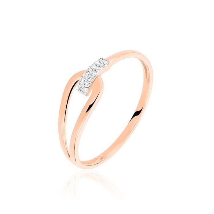Argolla  de matrimonio Habana: Oro rosa y diamantes para tu boda