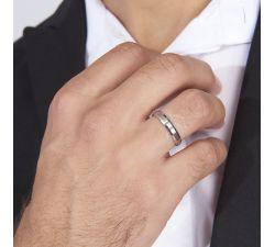 Argolla de matrimonio Niza: Con incrustación cepillada de oro