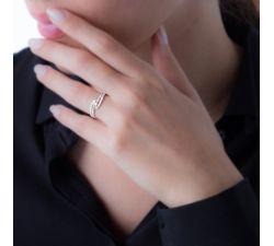 Anillo de compromiso Madeira doble fila de diamante