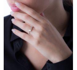 Anillo de compromiso Myconos: Delicado y magnifico solitario de diamante