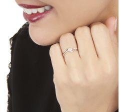 Anillo de compromiso Detroit: Joya en diamantes pavé frances