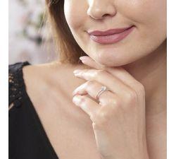 Anillo de compromiso Valparaíso: Doble fila de diamantes