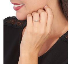 Anillo de compromiso Pittsburgo: Solitario de diamante con oro