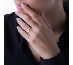 Anillo de compromiso Cotonú: Pequeño y delicado con pavé de diamantes