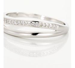 Argolla de matrimonio Laredo: Diamantes apilables con diamantes y diseño moderno