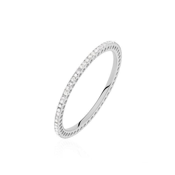 Argolla de matrimonio Paris: Pequeña con micropavé de diamantes