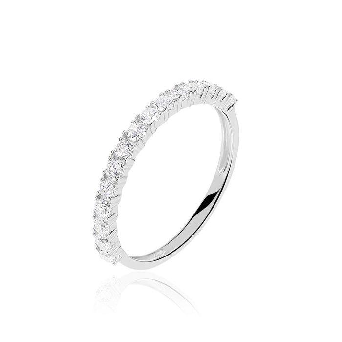Argolla de matrimonio Estanbul: Con pavé de diamantes festoneado