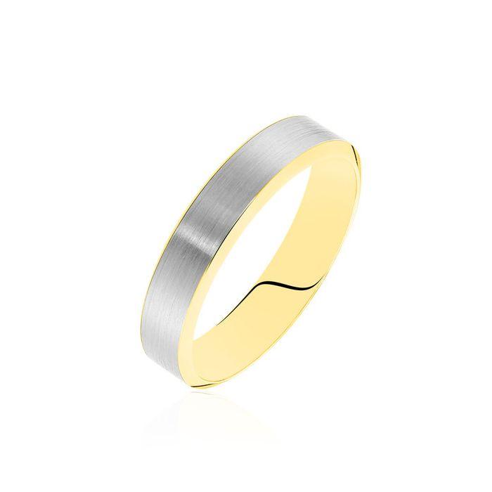 Argolla de matrimonio Betim: Joya bicolor en oro